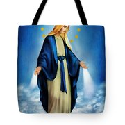 Virgen Milagrosa Tote Bag by Bibi Romer