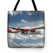 Virgin Airbus A340 G-vgas Tote Bag