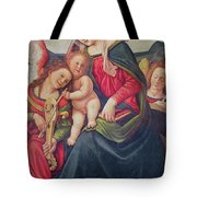 Virgin And Child And Angel Musicians  Tote Bag by Piero di Cosimo