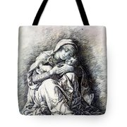 Virgin And Child Madonna Of Humility 1490 Tote Bag