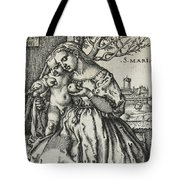 Virgin And Child With A Parrot Tote Bag