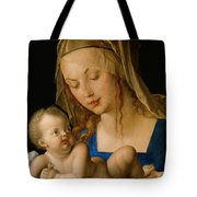 Virgin And Child With A Pear Tote Bag
