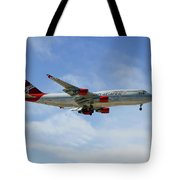 Virgin Atlantic Boeing 747-443 Tote Bag
