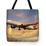 Virgin Atlantic Boeing 787 Dreamliner Tote Bag