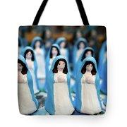 Virgin Mary Figurines Tote Bag