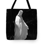 Virgin Mary In Black And White Tote Bag