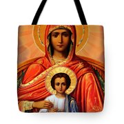 Virgin Mary Old Painting Tote Bag
