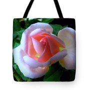 Virgin Pink Rose With Thorns Tote Bag