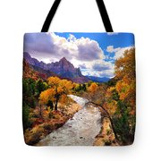 Virgin River Autumn Tote Bag by Greg Norrell