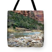 Virgin River In Zion Canyon Tote Bag