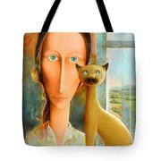 Virginia At The Window Tote Bag