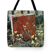 Virginia Dale - The Handwriting On The Red Stone Tote Bag