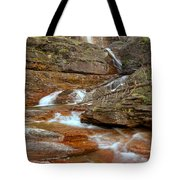 Virginia Fall Glacier Cascades Tote Bag