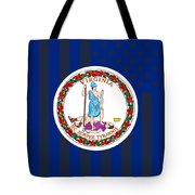 Virginia State Flag Graphic Usa Styling Tote Bag