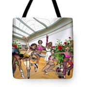 Virtual Exhibition - Dance Of Opening The Exhibition Tote Bag