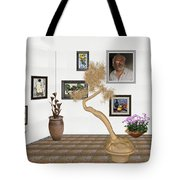 Virtual Exhibition - Statue Of Bonsai 1 Tote Bag