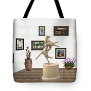 Virtual Exhibition_statue Of A Horse Tote Bag
