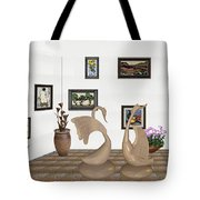 virtual exhibition_Statue of swans 22 Tote Bag