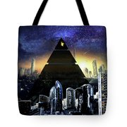 Virtual Law City Tote Bag