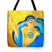 Vishuddha Throat Chakra Goddess Tote Bag