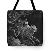 Vision Of Death Tote Bag by Granger