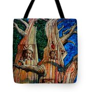 Vision Of The Ancient Pine Tote Bag