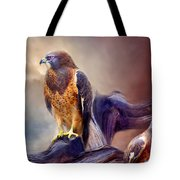 Vision Of The Hawk 2 Tote Bag