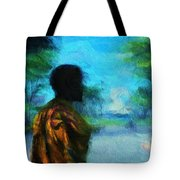 Visionary Roundabout Scene Tote Bag