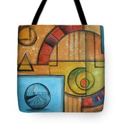 Visions Of Red Wheel Tote Bag