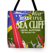 Visit Beautiful Sea Cliff Tote Bag