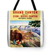 Visit Grand Canyon - Restored Tote Bag