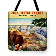 Visit Grand Canyon - Vintgelized Tote Bag