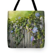 Visiting The Morning Glories Tote Bag