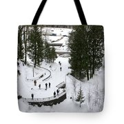 Visitor Viewpoint From The Bridge Tote Bag