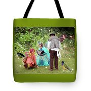 Visitors At A Fairy Blessing Tote Bag