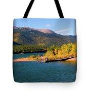 Visitors At Pikes Peak And Crystal Reservoir Tote Bag