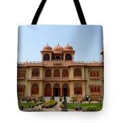 Visitors Wander Around Gardens Of Mohatta Palace Museum Karachi Sindh Pakistan Tote Bag