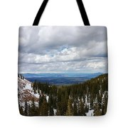 Vista With Snow And Red Rock Tote Bag