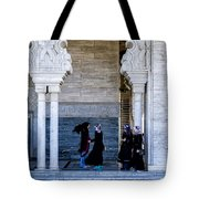 Vistors At The Mausoleum  Tote Bag