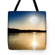 Vistula River Sunset 2 Tote Bag by Tomasz Dziubinski