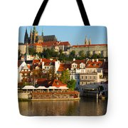 Vitus Cathedral Over Vltava  Tote Bag
