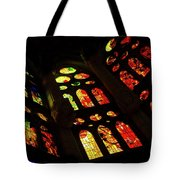 Vivacious Stained Glass Windows Tote Bag