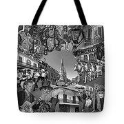 Vive Les French Quarter Monochrome Tote Bag