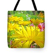 Vivid Colorful Yellow Daisy Flowers Daisies Baslee Troutman Tote Bag