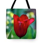 Vivid Red Tulip Tote Bag