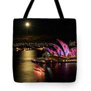 Vivid Sydney Under Full Moon Tote Bag