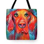 Vizsla Dog Portrait Tote Bag
