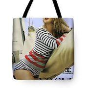 Vogue, Coco Chanel, Vintage Nautical Look, Yatching Tote Bag