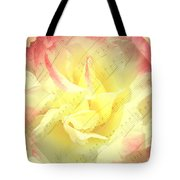 Voice Of The Heart A Rose Portrait Tote Bag