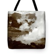 Volcanic Steam Tote Bag